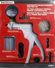 Autocraft Vacuum Pump, Brake Bleeder & Test Kit