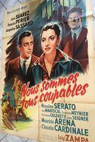 NOUS SOMMES TOUS COUPABLES 1959 - LUIGI ZAMPA / CLAUDIA CARDINALE -120x160