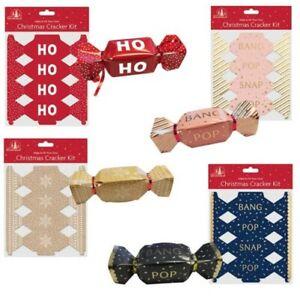 6 Pack Make your Own Treat Christmas Cracker Kit - Choose Design
