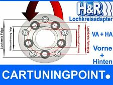 H&R Lochkreisadapter VA+HA 5x110mm/65,0 auf Felge 5x120mm/72,5 40mm