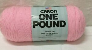 CARON ONE POUND  ACRYLIC YARN SOFT PINK  16 OZ SKEIN