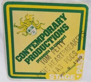 TOM PETTY - VINTAGE ORIGINAL JAN. 9 1980 CLOTH CONCERT STAGE PASS