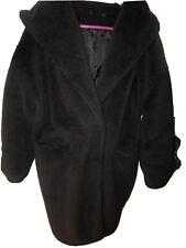 Teddy Bear Jacket Petite Size 12 Black