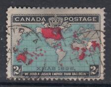 """Canada Scott #86b 2c black, deep blue & carmine """"Imperial Penny Postage"""" F"""