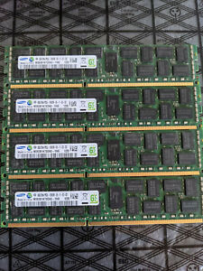 32GB (4x 8GB) DDR3 SERVER RAM 2Rx4 PC3L-10600R Samsung