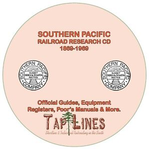 SOUTHERN PACIFIC OFFICIAL GUIDES, EQUIPMENT REGISTERS & RESEARCH SCANNED TO CD
