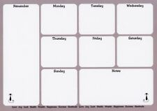 Meal Menu Planner Magnetic Weekly Daily Shopping Plan Week Organiser & Pen A4