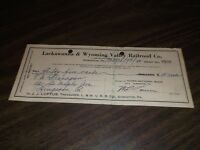 MARCH 1952 LACKAWANNA & WYOMING VALLEY COMPANY TICKET REFUND CHECK #8598