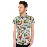 Jurassic Adventure Retro Dinosaur Print Shirt by Run and Fly XXL BNWT/NEW
