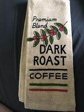 New listing Free Shipping Nwot Dark Roast Coffee Terry Kitchen Towel
