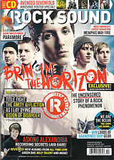 ROCK SOUND 166 October 2012 BRING ME THE HORIZON Avenged Sevenfold Posters + CD