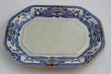 Authentic Antique Blue Masons Ironstone China Plate