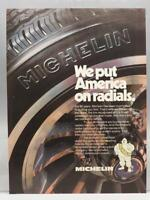 Vintage Ad Print Design Advertising Michelin Radial Tires