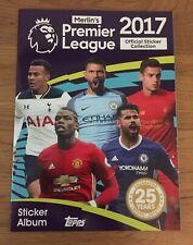 Mint Condition Topps 2017 Premier League Sticker Set With Empty Album