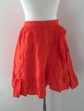 NEW J Crew Linen Orange Ruffle Skirt  Size 2 G4590