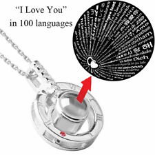 Silver 100 Languages Light I Love You Projection Pendant Necklace Tik Tok Style