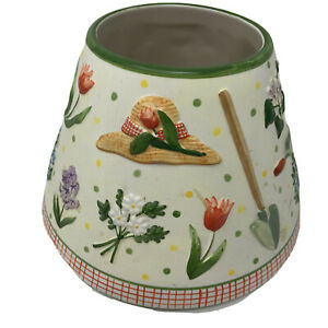 Yankee Candle Large Shade Garden Flowers Country Tools Gardening Hat Spring