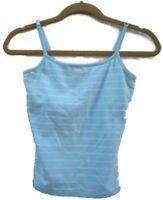 Women's Express Blue & White Stripe Tank Top Size XS Regular Shelf Bra