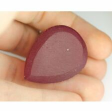 160ct Ruby Strong Red Color Preform Pear Shape Lab Created Faceting Rough Stone