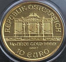 2007 Philharmonic 1/10 oz .9999 Fine Gold 24K⭐️10 Euro - UNC Austria ⭐️🇦🇹🎻⭐️