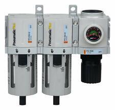 "PneumaticPlus Air Filter Coalescing Pressure Regulator 3/8"" NPT PPC3C-N03G R"