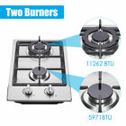 """12"""" Gas Cooktop 2 Burners Drop-in Propane/natural Gas Cooker Gas Stove 110V US photo"""
