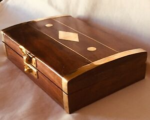 Gorgeous Rosewood Box With Bronze Inlay