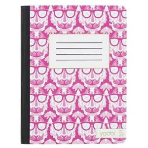 4 College Ruled Composition Notebook Pink/White – Yoobi