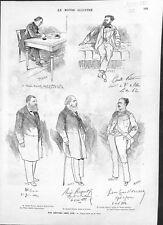 Député Benjamin Raspail Cunéo d'Ornano Camille Pelletan Wilson ILLUSTRATION 1882