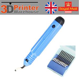 NOGA NB1100 hole deburring tool handle blue 10 blades BS1010 S10 Sharp edge mild