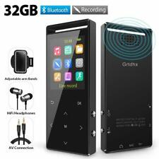 MP3 Player 32GB MP3 Players with Bluetooth Hi-Fi Lossless Sound Music Player ...