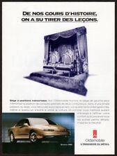 1995 OLDSMOBILE Aurora Vintage Original Print AD - Gold car thrones photo Canada