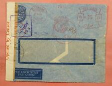 1941 NETHERLANDS INDIES METER BATAVIA AIRMAIL WWII CENSORED