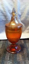 Carnival Glass Compote Dish with Lid