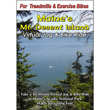 MT DESERT ISLAND, ACADIA NAT PARK, MAINE CYCLING SCENERY DVD VIRTUAL BIKE RIDE