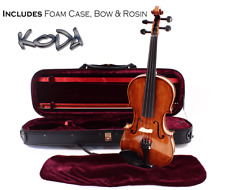 Violin, Koda 4/4 Size High Grade Fiddle with Case, Bow and Rosin, Natural