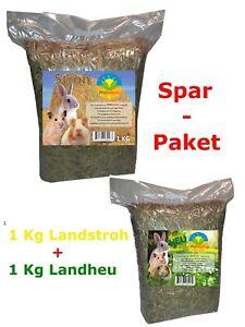 """""""ProFarmer"""" 1Kg Heu & 1 Kg Stroh SPAR-PAKET Futter+Einstreu Heu Stroh Premium Qu"""