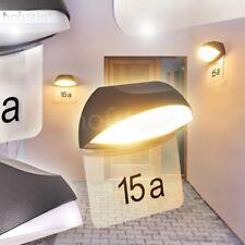 Hausnummern Schild LED Design Außen Wand Lampen Hof Garten Terrassen Leuchten
