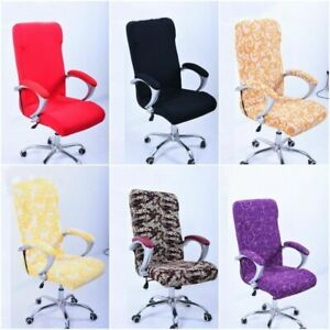 House Soft Office Computer Desk Print Chair Cover Meeting Restaurant Protector