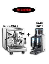 Set-Offerta: BEZZERA mitica S + RANCILIO ROCKY D espresso perfetto