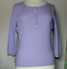 100% CASHMERE JUMPER. PURE COLLECTION. LILAC. SIZE 12.