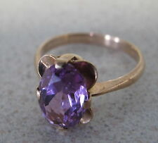 Russian Soviet Ring Rose Gold Rubellite sz 9.75 stamp 583 Unisex Кольцо Золото
