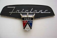 1956 Ford Fairlane Trunk Emblem NEW SHOW CONDITION Sunliner, Crown Victoria 56