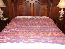 Handcrafted Crochet Afghan Throw Blanket ~ Complex Pattern