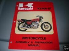 Kawasaki KZ400 B1 Assembly Prep Catalog Book Manual