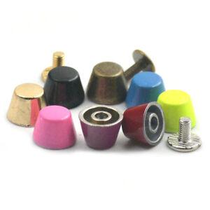 Alloy Bucket Mushroom Studs Rivet Screw Back Clothes Handbag Leather Craft DIY