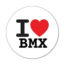 I Love BMX-Pegatina Sticker decal - 6cm