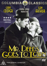 MR. DEEDS GOES TO TOWN Gary Cooper DVD R4 PAL New   SirH70