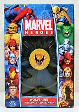 NEW 2006 MARVEL HEROES WOLVERINE DESK FAN MINI DUAL SPEED ELECTRIC SUPER HERO
