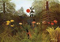 H.Rousseau - Virgin Forest - Huge A1 size Canvas Wall Art Print Poster Unframed